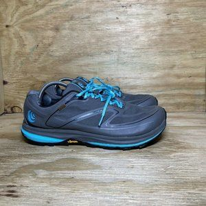 Topo Hydroventure 2 Trail Running Shoes Womens Size 12 Gray Blue Waterproof